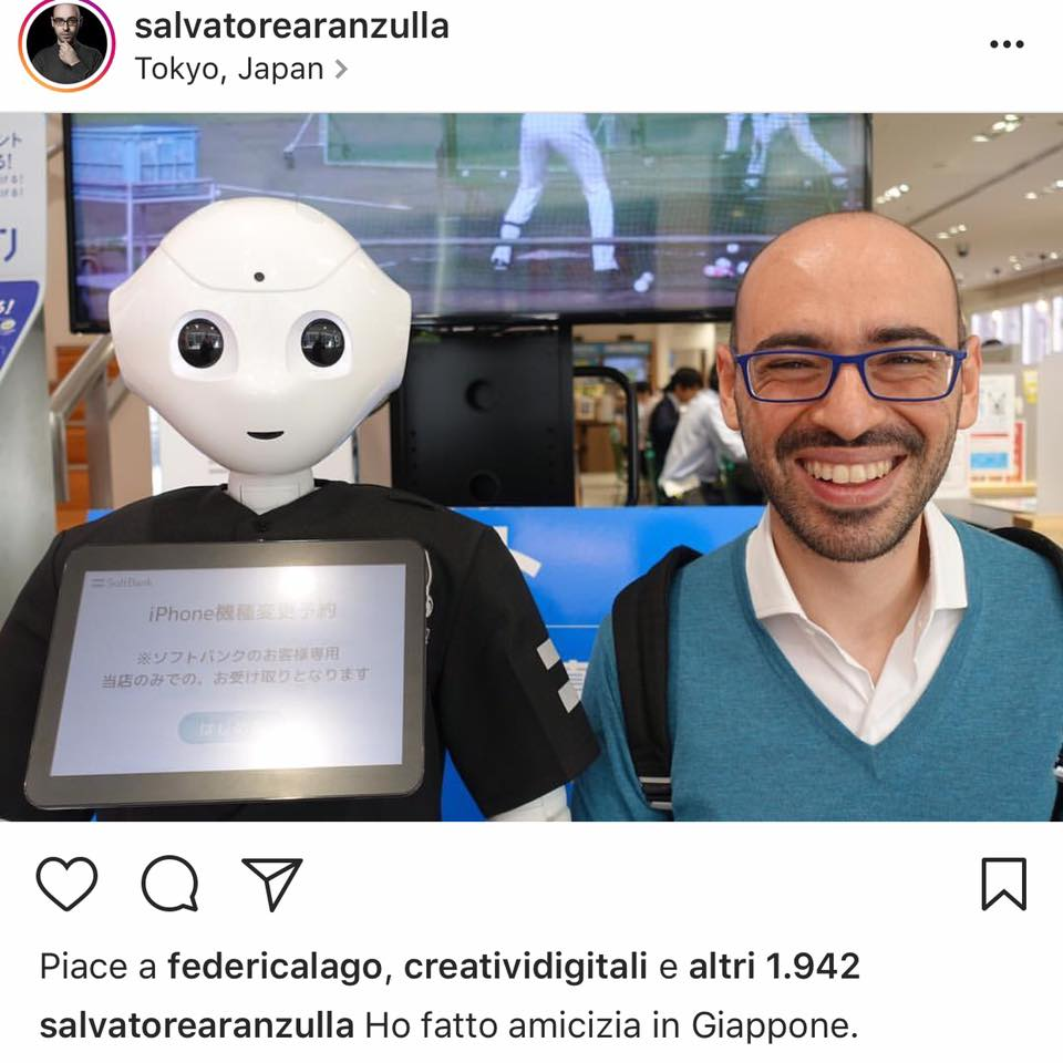 Robot Pepper Salvatore Aranzulla